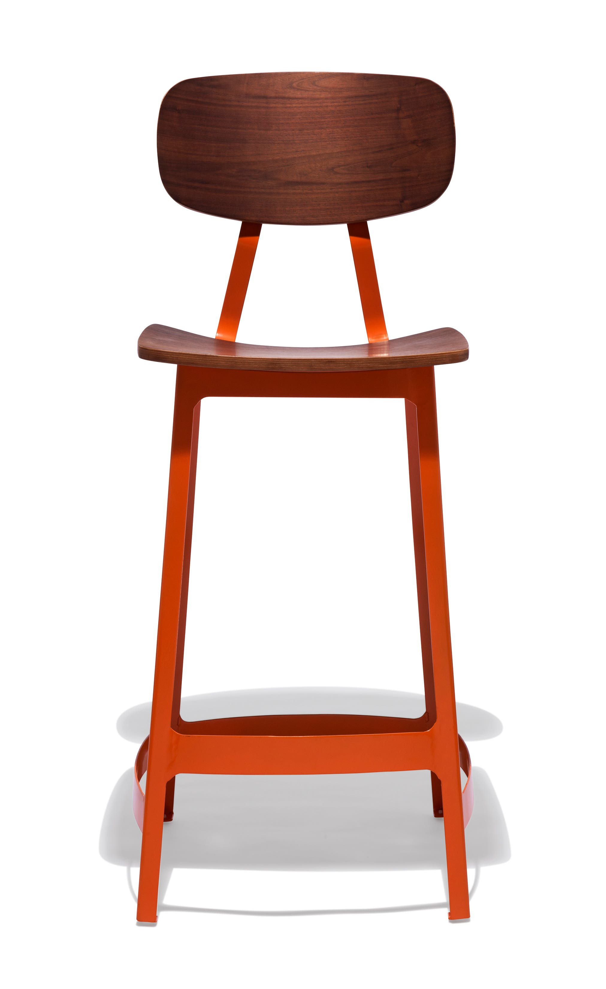 Commercial bar counter and pub stools industrial modern for Orange bar stools ikea