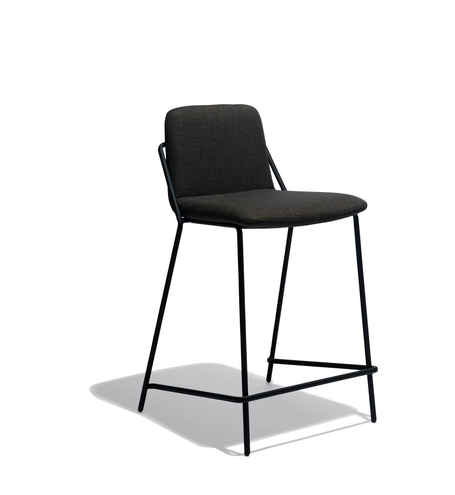 industry west sling counter stool upholstered