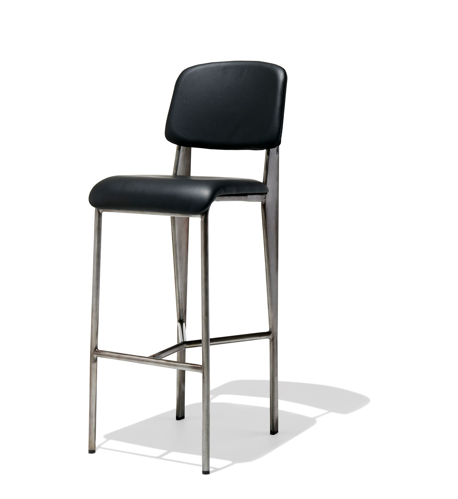 black leather bar stools with back prouve bar stool leather 9303