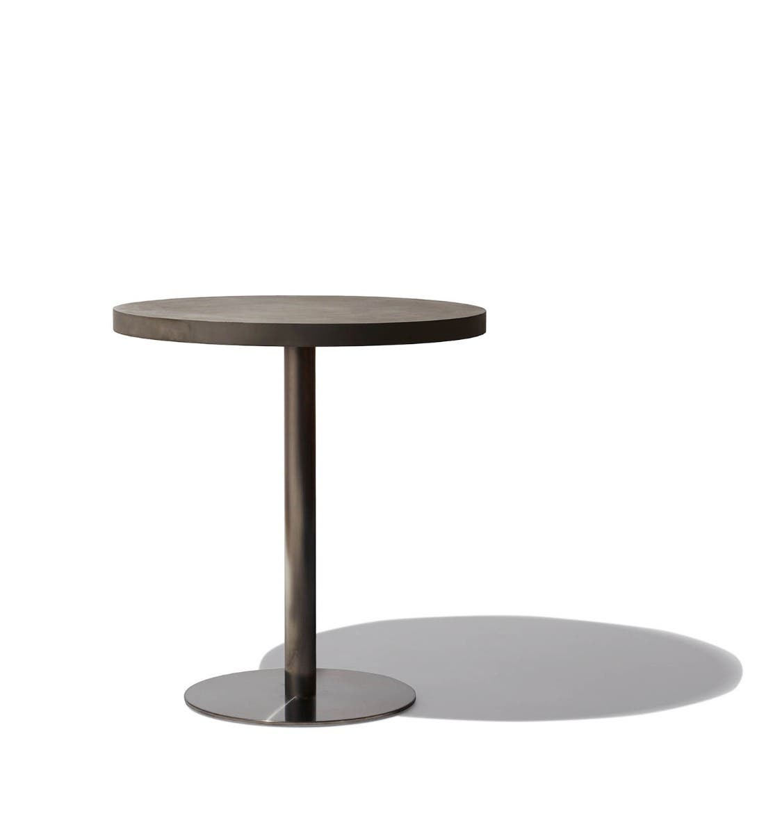 slate raw and metal bistro table a concepts