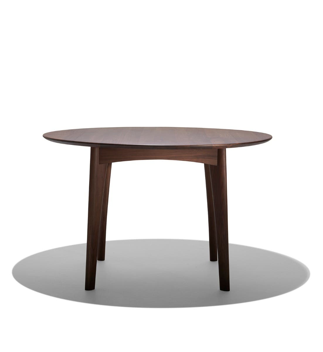 osso round walnut dining table industry west. Black Bedroom Furniture Sets. Home Design Ideas