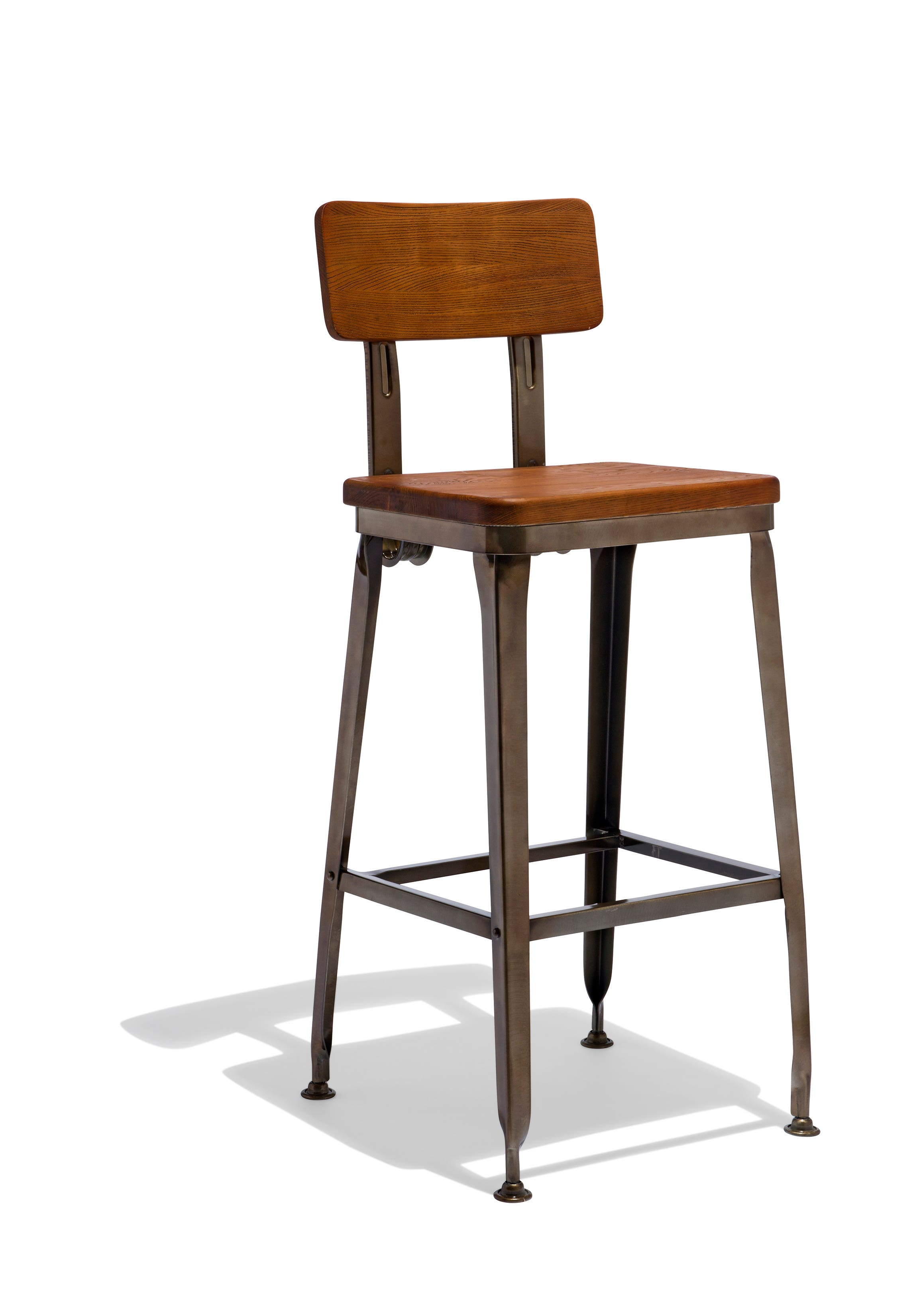 Octane Counter Stool With A Wood Seat The Octane