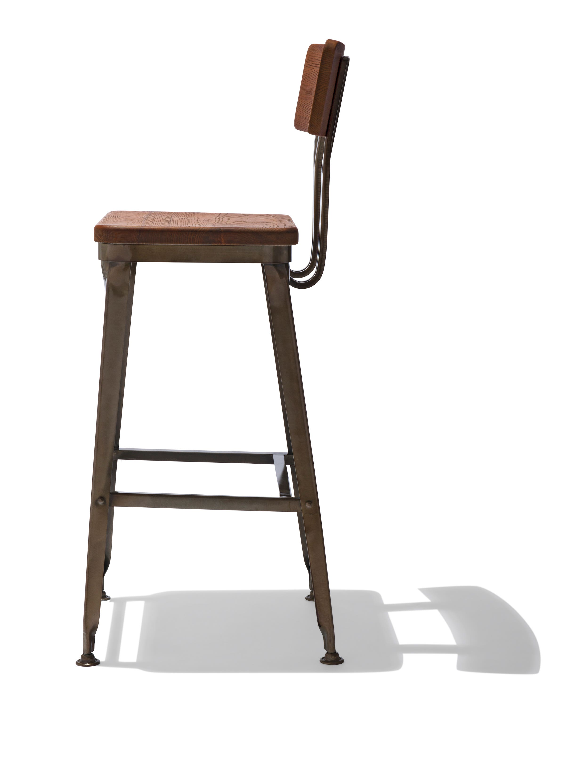 Octane Bar Stool With A Wood Seat
