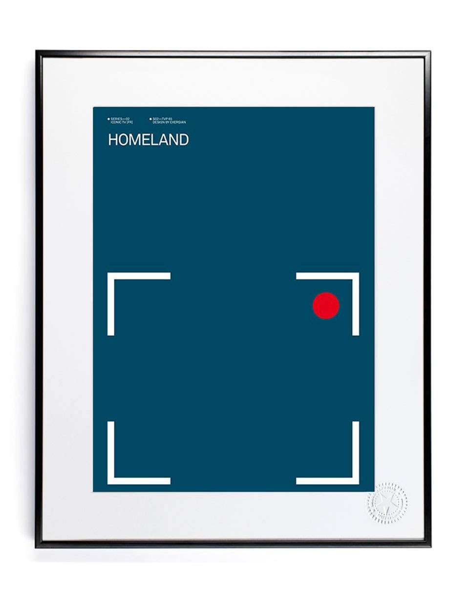 Homeland Print - Iconic TV Prints - Collections