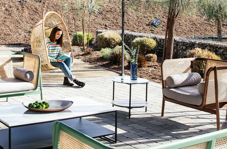 Working from home with Industry West outdoor furniture