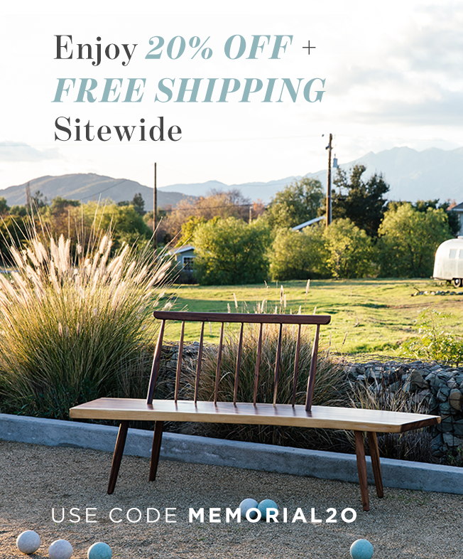 enjoy 20% off + free shipping site wide