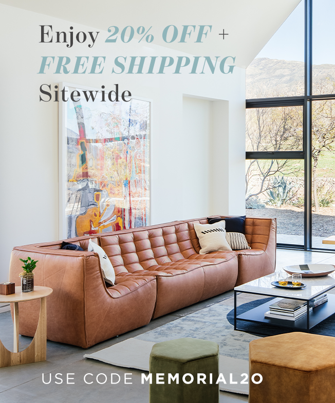 enjoy 20% off + free shipping site wide use code memorial20