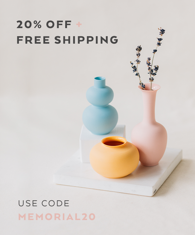 20% Off + Free Shipping on orders $75 or More —Use code MEMORIAL20