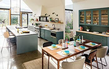 A kitchen with Industry West furniture in Ojai, California