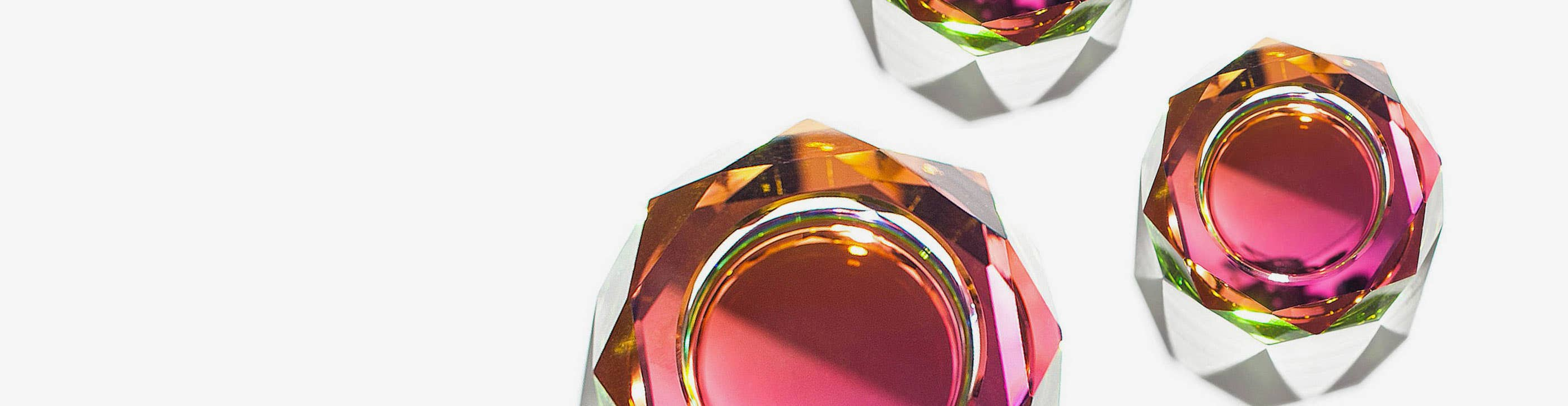 Three Industry West iridescent Regenbogen bowls