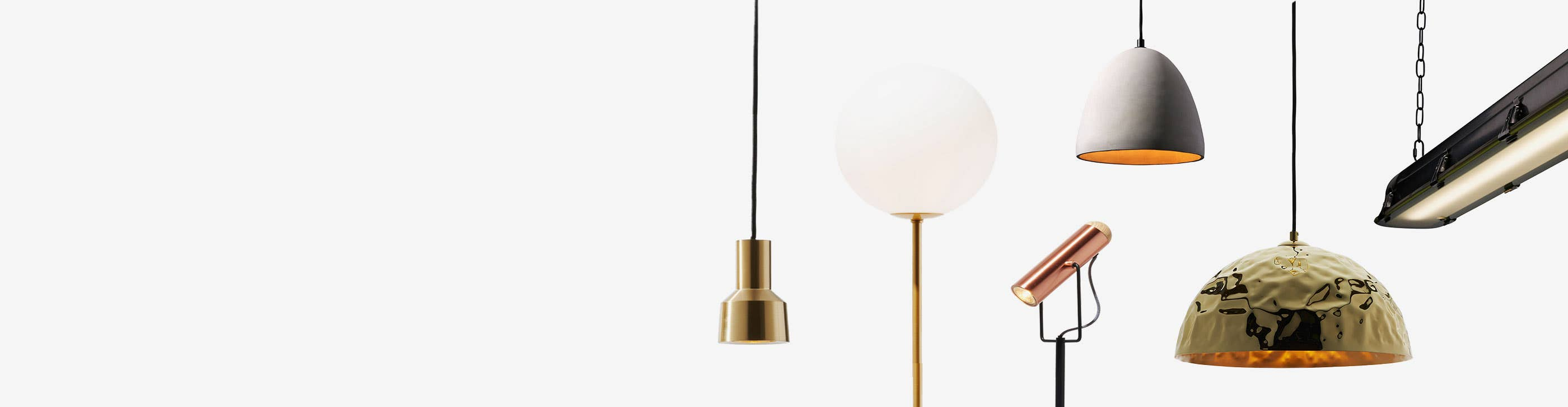 Six different lighting fixtures from Industry West