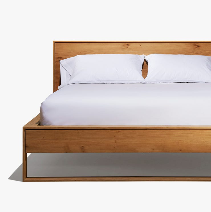 Industry West solid oak Liam Bed