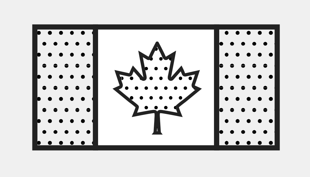 Illustration of the Canadian flag.
