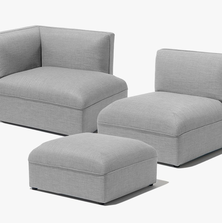 Three pieces of the modular Loom sofa from Industry West