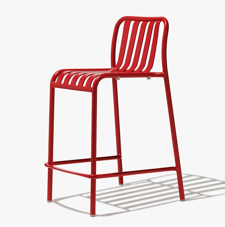 Industry West Lucy bar stool in red