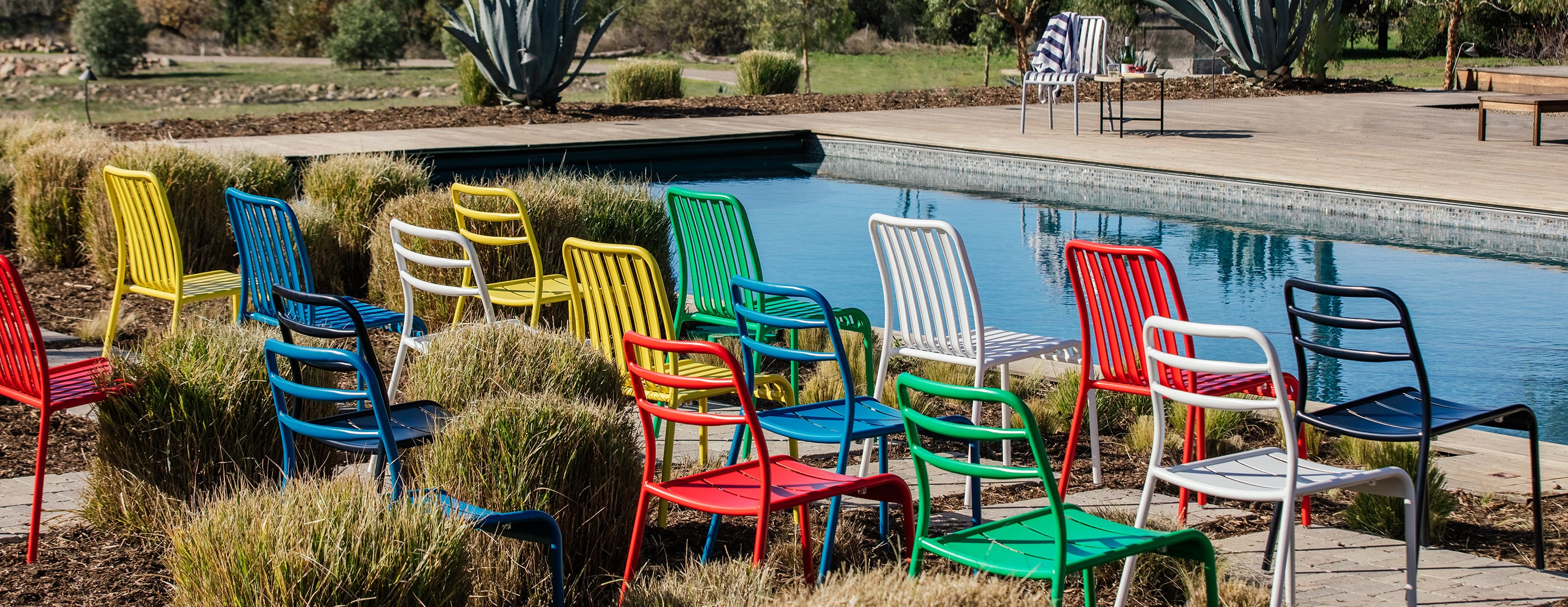 Four Yellow Suzy Side chairs in Ojai, CA