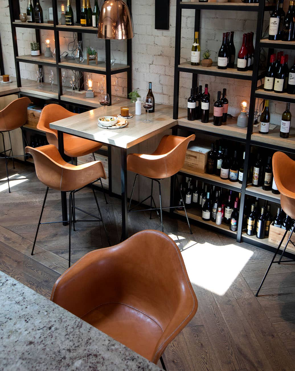 Industry West Sol&Luna Hovy leather bar stools