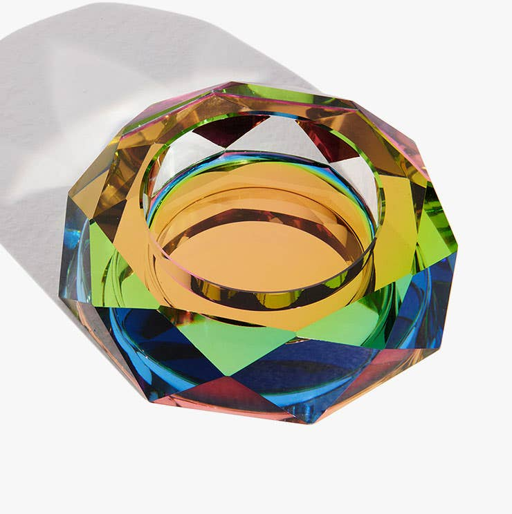 Multicolored iridescent Regenbogen Bowl from Industry West