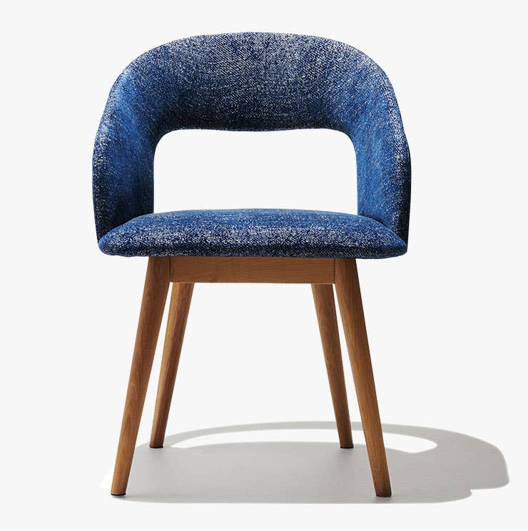 Industry West Savoy upholstered dining chair in blue